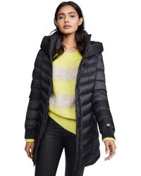 SOIA & KYO Alanis-n Ladies Hooded Down Coat - Black