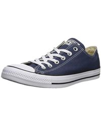 Converse All Star Low Double Tongue Leather in Blue for Men - Lyst 9ab7d3bc7
