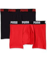 PUMA Basic Boxer 2p - Rouge