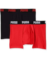 PUMA Boxer (Lot de 2) Homme - Rouge