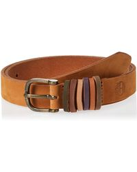 Timberland Casual Leather Belt For Jeans - Brown