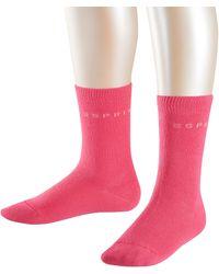 Esprit Foot Logo Socks 2p Calcetines - Rosa