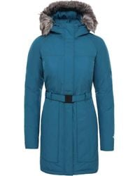 The North Face Ladies Brooklin Ii Parka Blue Coral S