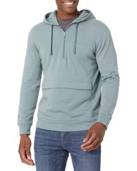Goodthreads Heritage Wash Lightweight French Terry Anorak - Blue