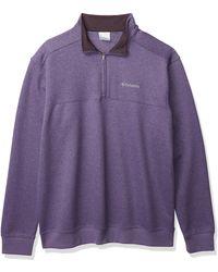 Columbia Hart Mountain Ii Half Zip Jacket - Purple