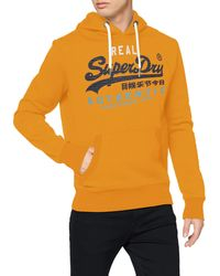Superdry Sweater Herren VL STRIPE HOOD Denver Orange