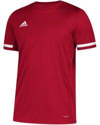 adidas Maglia Team 19 Short Sleeve - Rosso
