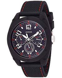 Guess Reloj Analógico para Hombre de Cuarzo con Correa en Silicona W1256G1 - Negro