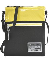 Tommy Hilfiger Surplus Logo Colour-Block Pouch Messenger Bag One Size Star Fruit Yellow - Mehrfarbig