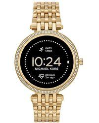 Michael Kors Gen 5E Darci Touchscreen Smartwatch mit Lautsprecher - Mettallic