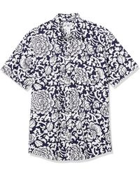 Amazon Essentials Short-Sleeve Regular-fit Casual Poplin Shirt Button-Down-Shirts - Blanco