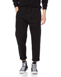 Superdry Edit Taper Drawstring Pant Pantalones - Negro