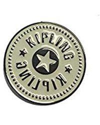 Kipling Logo PIN Porte-clés, 0 cm, 0.01 liters - Blanc