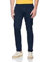 1bcc1ba909551 Vans Cotton Core Basic Joggers In Navy Va31jq7up in Blue for Men - Lyst