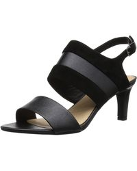 éxito Nos vemos Mediante  Clarks Leather Laureti Pearl (black Nubuck) High Heels - Lyst