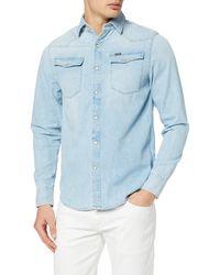 G-Star RAW 3301 Straight Shirt L/s Denim - Blue