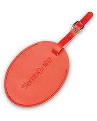 Samsonite Large Vinyl Id Tag - Red