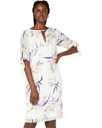 TRUTH & FABLE - Sheer Sleeve Tunic Dress - Lyst