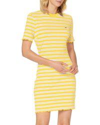 Tommy Hilfiger Tjw Striped Rib Tee Dress Vestito - Blu