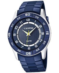 Calypso St. Barth Quartz Watch With Blue Dial Analogue Display And Blue Plastic Strap K6062/2