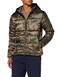 True Religion No Down Hooded Jacket Camouflage Giacca Termica - Multicolore