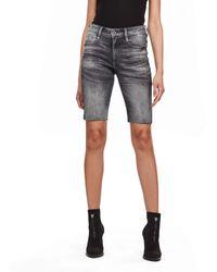 G-Star RAW 4311 Noxer High Slim Pantalones Cortos - Azul