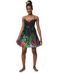 Desigual Dress Swimwear Sia Black Vestito - Multicolore