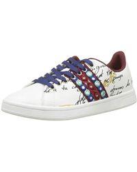 design intemporel b8b27 ee70d Shoes_Cosmic_Exotic Lettering, Baskets Basses Femme - Multicolore