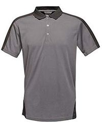 ea6db77d Contrast Coolweave Pique Polo Shirt - Gray