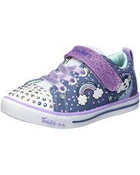 Skechers Kids' Sparkle Lite-Unicorn Craze Sneaker, - Blau