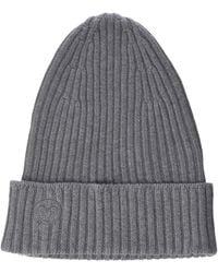 The Drop Julie Ribbed Beanie Hat - Grey