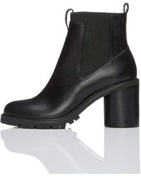 FIND Chunky Chunky Sole Chelsea Boots - Black