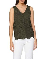 ff22bb72197 Dorothy Perkins Lace Cami Vest Top in Natural - Lyst