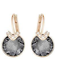 Swarovski Boucles d'oreilles Bella V, cristal gris, métal doré rose
