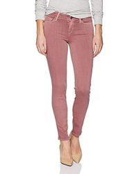 PAIGE - Skyline Ankle Peg With Uneven Undone Hem Jeans - Lyst