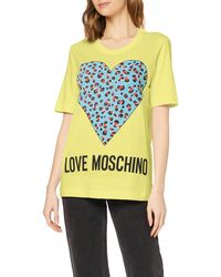 Love Moschino Cotton T-shirt - Yellow