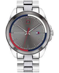Tommy Hilfiger Quartz Watch With Stainless Steel Strap - Metallic