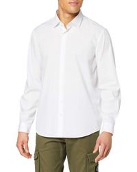 Calvin Klein Cannes Fitted Fec Camisa - Blanco