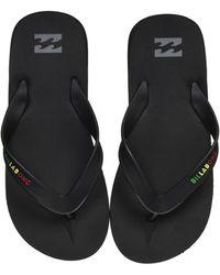 Billabong All Day Impact Supreme Cushion Eva Footbed Sandal Flip Flop - Black