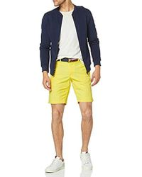 Tommy Hilfiger Brooklyn Short Light Twill Belt Pantalones Cortos para Hombre - Amarillo