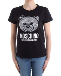 Love Moschino Moschino T-shirt Underwear Nero Mod. A1913 9019 S - Black