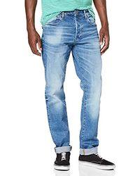 G-Star RAW 3301 Straight Jeans Uomo - Blu