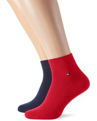 Tommy Hilfiger Th Men Quarter 2p Socks - Red