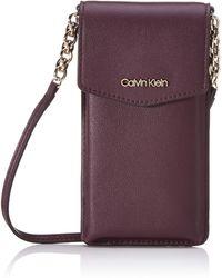 Calvin Klein S Chained Phone Pouch Bag Organiser Red