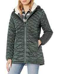 Steve Madden Quilted Anorak With Hood - Green