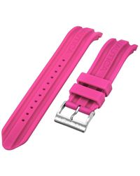 Nautica N17507G   A17507G BFD 100 Date 22mm Pink Resin Replacement Watch Band - Rosa