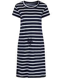 Regatta S Navy Harrisa Cotton Dress 10 - Blue