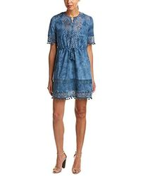 French Connection - Florence Lace Short-sleeve Dress - Lyst
