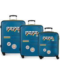 Pepe Jeans Juego de 3 Maletas rígidas 55-69-79cm Peje Jeans Edison Azul