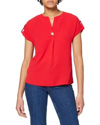 Dorothy Perkins Red Button V-neck T-shirt